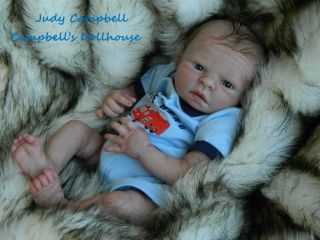 Reborn Baby Boy Doll Very Realistic Real Mohair