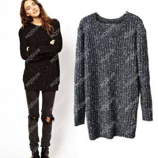 Womens European Fashion Crewneck Warm Knit Sweaters Pullover 4 Colors B3511
