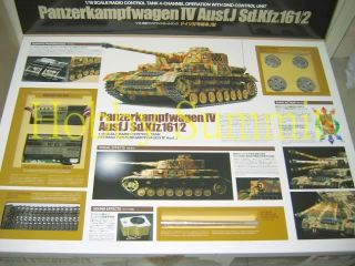 Tamiya 1 16 R C WWII German Panzer IV Ausf J Tank Full Option Kit 56026