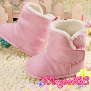 Infant Toddler Baby Girls Kids Winter Warm Shoes Boots Size 3 Pink