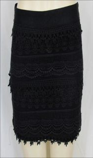 Sexy Black Lace Mini Party Prom Club Skirt Forever 21 Label Cut
