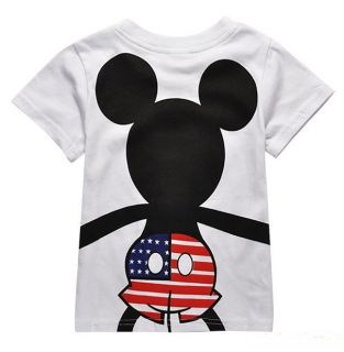 New Kids Boys Girls Mickey Mouse Short Sleeve T Shirts Size 100 3 4 Years