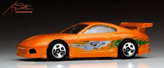 Hot Wheels Orange Toyota Supra Fast Furious Diecast HW Car City Street Power