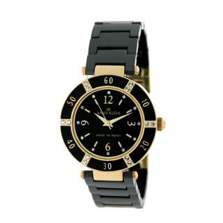 Anne Klein Women Swarovski Gold Black Watch 109416BKBK