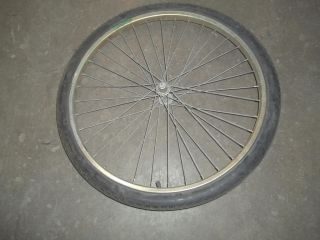 Vintage 26 inch Midweight Front Bicycle Bike Wheel Rim w Germany Schwinn Axle