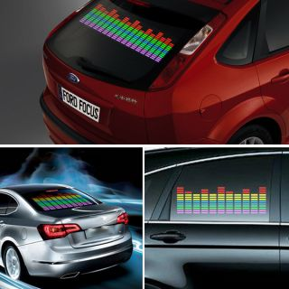 5Size Colorful Car Sticker Music Beat Rhythm LED Light Sound Activated Equalizer