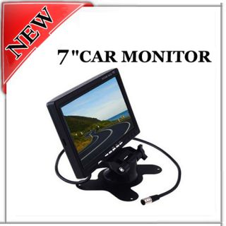 "7"" LCD Color in Car Monitor DVD VCR for Rearview Camera"
