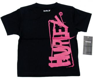 Hurley Black Pink Ladder Tee Shirt Toddler Boys