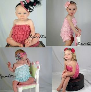 Baby Ruffle Lace Petti Rompers Newborn Infant Toddler Photo Prop Portrait U Pick