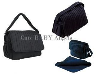 New Style Caboodle Classic Baby Changing Bag Nappy Diaper Changing Mat Black