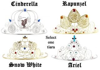 Child Disney Princess Cinderella Snow White Rapunzel Ariel Metal Costume Tiaras