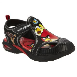 Licensed Rovio Angry Birds Toddler Sandals Shoes Toddler Size 6 Black