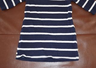 J Crew Crewcuts Girls Toddler Boatneck Tee Dress Navy Stripe 3T 36