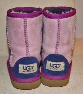UGG Australia Classic Patchwork Sheepskin Boots Shoes Cactus Flower 8 UK 7 EU 25