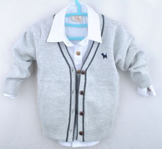 2013 Autumn Child Kids Boy Girl Long Sleeve Tops Sweater Knit Cardigan Coat
