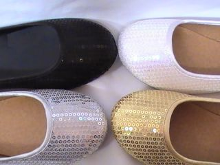 Girl Sequined Ballet Flats RIANNA77 Youth Flower Girl Pageant Dress Shoes