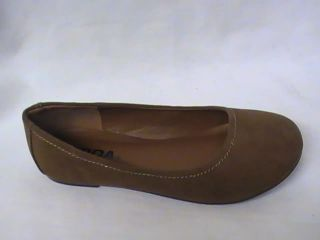 Girls Tan Velvet Ballet Flats SD Girl Sz 3