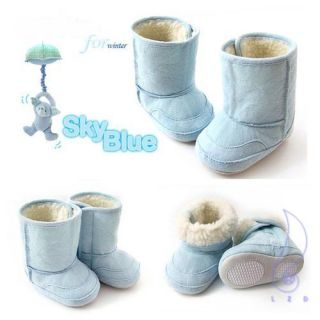 New Infant Boys Girls Toddler Baby Shoes Fur Lining Winter Snow Boots