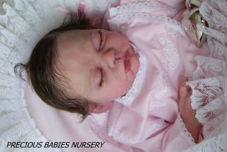 "Soft Platinum Silicone Baby Doll ""Skye"" by Joanna Gomes Kit Reborn by Mimadolls"