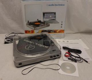 As Is Audio Technica at LP60USB Automatic Belt Driven Turntable with USB Port