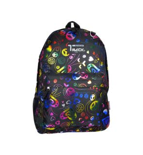 Neon Peace Signs Backpack School Pack Bag 205 Back Pack  New Print