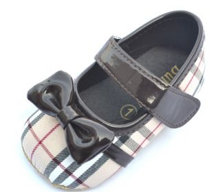 Plaid Mary Jane Toddler Baby Girl Shoes Size 1 2 3