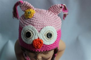 New Cute Owls Newborn Baby Child Girls Boys Knit Hat Cap Photograph