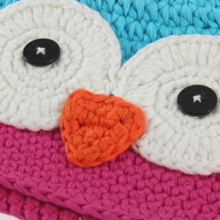 Cute Handmade Big Mouth Monkey Owl Newborn Baby Children Kids Knit Hat Cap G6