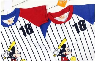 2013 New Baby Toddler Mickey Mouse Boys Girls MLB T Shirts Shorts Outfits Sets
