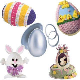 Wilton 3 D Egg Cake Pan Set 3D Easter Bunny Party Treat