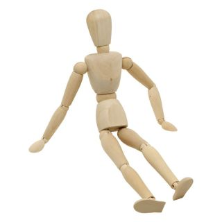 "12"" Wooden Female Manikin Figure Posable Art Mannequin"