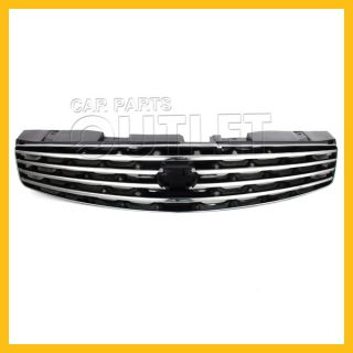 2003 2007 Infiniti G35 Coupe Chrome Grille IN1200107 Gloss Black Finished Insert