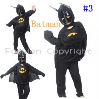 Child Kid Favor Costume Party Spiderman Batman Superman Clothes Halloween Suit