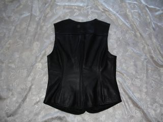Nice Womens Harley Davidson Black Leather Vest Size s Small SM New