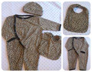 Baby Infants Girls Clothes Leopard Diva Print Frilly Vest Tulle Hat Bib Outfit