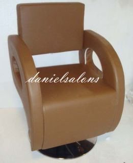 3 x Brand New Brown Styling Barber Chair Salon Beauty Hair Equipment Supplies