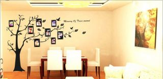 Photo Picture Black Tree Frame Wall Stickers Decals Mural Home Decor DIY Right