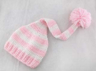 8 Color Cute Newborn Baby Crochet Knit Christmas Beanie Hat Girl Boy New Gift