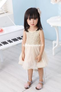 New Girls Baby Toddler Dance Ballet Tutu Performance Party Sequin Top Dress 2 7T