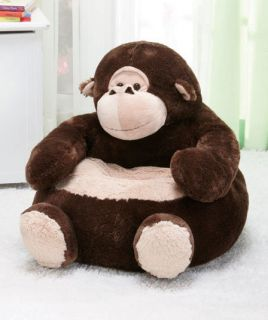 "Monkey 18"" Plush Animal Chair Child Toddler Kids for TV Games Reading Play New"