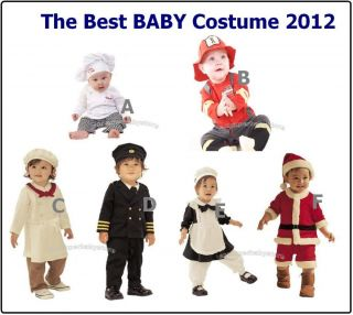 0 30M Baby Party Dress Up Costume Set Chef Kitchen Girl Santas Pilot Fireman