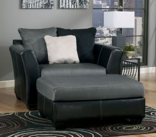 Courtney Contemporary Faux Leather Fabric Sofa Couch Set Living Room Furniture