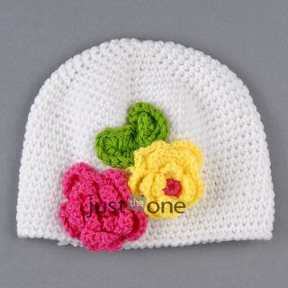 Sweet Baby Toddler Cute Kids Infant Girls Handmade Beanie Knited Crochet Hat Cap