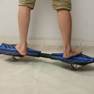 Ripstik Caster Board Skateboard Wave Board 2 Wheels Blue Black Bag C680