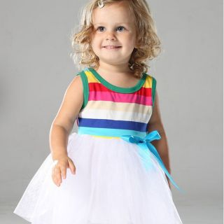 New Mom and Me Baby Girls Dance Dress Tutu Sleeveless Rainbow Kids 2T 8 Years