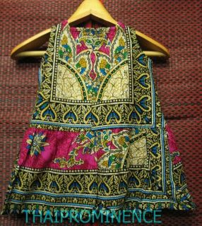 Elegant Pretty Cute Pink Dashiki Kids Baby Dress Sz 3