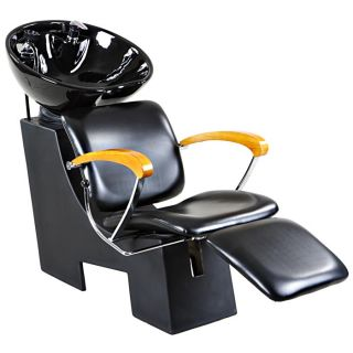 New Sturdy Black Salon Shampoo Chair Bowl Unit Su 03