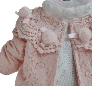Toddler Baby Girl Lace Outfit Set Jacket Top Skirt Size 1 4 Years Wedding Dress