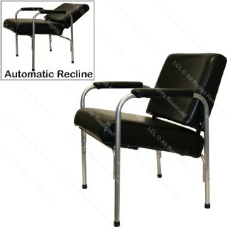 Black Cushion Arm Shampoo Chair Auto Reclining Barber Beauty Spa Salon Equipment