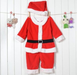 Christmas Sets Baby Boys Girls Xmas Santas Party Costume Warm Dress Outfit 6 24M